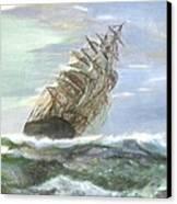 Violent Sea -oil Painting Canvas Print by Rejeena Niaz