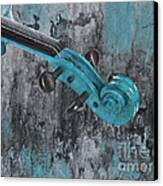 Violinelle - Turquoise 04d2 Canvas Print by Variance Collections