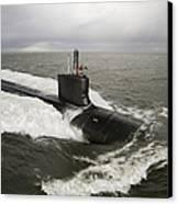Virginia-class Attack Submarine Canvas Print by Stocktrek Images