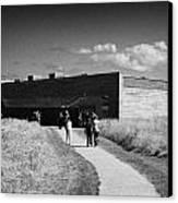 visitors centre at Culloden moor battlefield site highlands scotland Canvas Print by Joe Fox