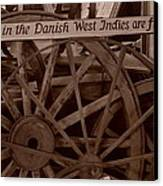 Wagon Wheels Of St. Croix Canvas Print by Dennis Stein