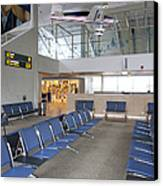 Waiting Area At An Airport Gate Canvas Print by Jaak Nilson