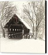 Waiting For The Sleigh Canvas Print by Andrew Soundarajan