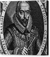 Walter Raleigh, English Courtier Canvas Print