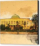 War In Iraq Sadaam's Palace Canvas Print by Jeff Steed
