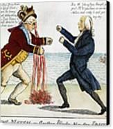 War Of 1812: Cartoon, 1813 Canvas Print