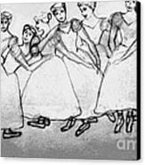 Warming Up - The Ballet Chorus Canvas Print by Forartsake Studio