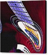 Warped Music Canvas Print by Steve Ohlsen