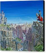 Warrior On The Striding Edge Canvas Print