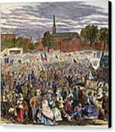 Washington: Abolition, 1866 Canvas Print
