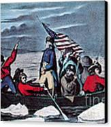 Washington Crossing The Delaware, 1776 Canvas Print