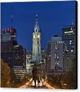 Washington Monument And City Hall Canvas Print