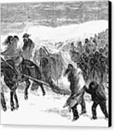 Washita Prisoners, 1868 Canvas Print