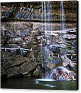 Water Flow Over A Rock At Hamilton Pool Canvas Print by Lisa  Spencer