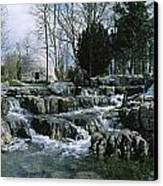 Water Flowing In A Garden, St. Fiachras Canvas Print by The Irish Image Collection