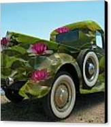 Water Lily Truck Canvas Print