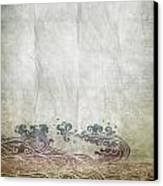 Water Pattern On Old Paper Canvas Print by Setsiri Silapasuwanchai