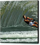 Water Skiing Magic Of Water 1 Canvas Print by Bob Christopher