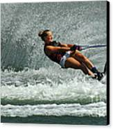 Water Skiing Magic Of Water 2 Canvas Print by Bob Christopher
