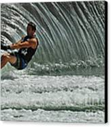 Water Skiing Magic Of Water 3 Canvas Print by Bob Christopher