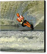 Water Skiing Magic Of Water 4 Canvas Print by Bob Christopher