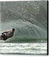 Water Skiing Magic Of Water 7 Canvas Print by Bob Christopher