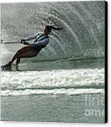 Water Skiing Magic Of Water 9 Canvas Print by Bob Christopher