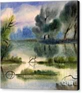Water View Landscape Canvas Print by Cristina Movileanu