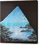 Water With Rocks Canvas Print