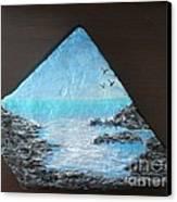 Water With Rocks Canvas Print by Monika Shepherdson