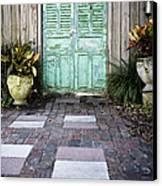 Weathered Green Door Canvas Print by Sam Bloomberg-rissman