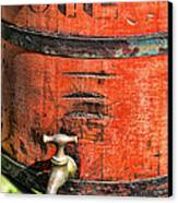 Weathered Red Oil Bucket Canvas Print