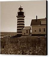 West Quoddy Lighthouse Canvas Print by Skip Willits