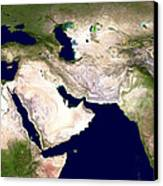Western Asia, Satellite Image Canvas Print