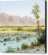 Western Landscape Canvas Print by Albert Bierstadt