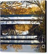 Westport Covered Bridge - D007831a Canvas Print by Daniel Dempster