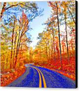 Where The Road Snakes Canvas Print
