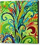 Whirlygig Tree Canvas Print by Genevieve Esson