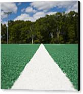 White Line On An Athletic Field Canvas Print by Sam Bloomberg-rissman