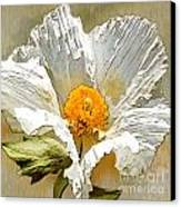 White Paper Flower Canvas Print by Artist and Photographer Laura Wrede