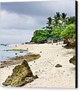 White Sand Beach Moal Boel Philippines Canvas Print by James BO  Insogna