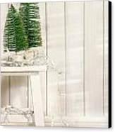 White Tree Lights  Canvas Print