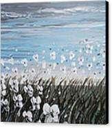White Wildflower Breeze Canvas Print