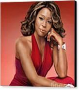 Whitney Houston Canvas Print by Reggie Duffie