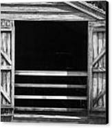 Who Opened The Barn Door Canvas Print by Teresa Mucha