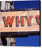 Why Canvas Print by Garry Gay