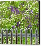 Wild Flowers On A Meadow Canvas Print by Jorg Greuel