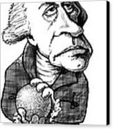 William Herschel, Caricature Canvas Print