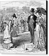 Wimbledon: Croquet, 1870 Canvas Print