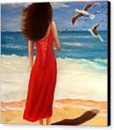 Wind Blown Beach Canvas Print by Joni McPherson